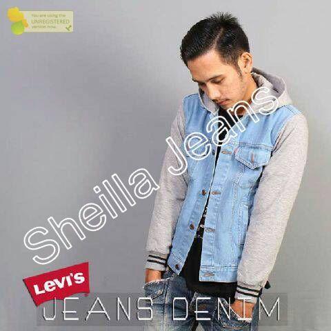 Model jaket jeans Kombinasi Levis Denim  e30a587b70
