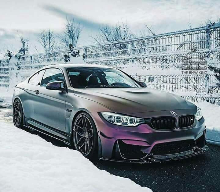 Bmw Z Coupe: BMW Z-Performance F82 M4 Purple Slammed Snow