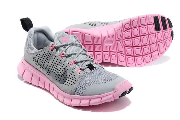 Nike Free Powerlines II Womens Soft Grey Silver Pink