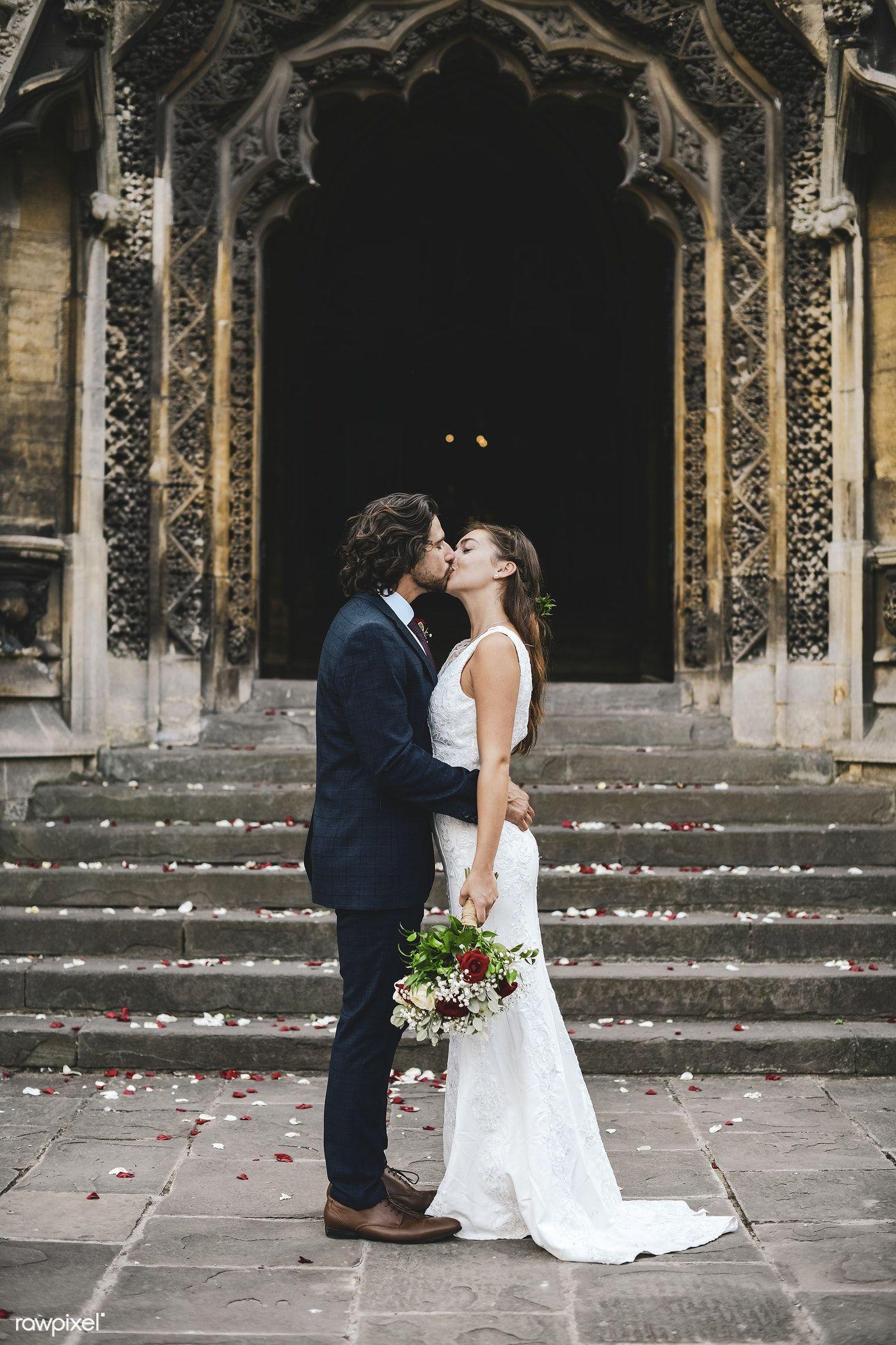 Happy Newly Wed Couple At The Church Premium Image By Rawpixel Com Chanikarn Thongsupa