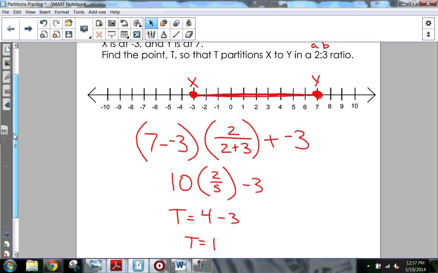 Partitioning A Segment