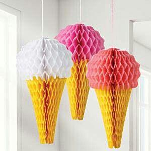 Lekker ijsje?.. als deco voor een zomerfeestje! www.partyzz.nl