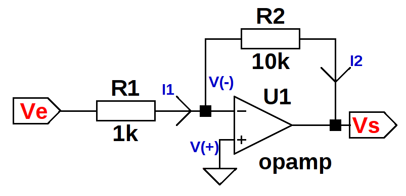 inverter opamp  with ltspice