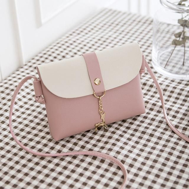 41928af3db Crossbody Bags For Women 2018 New Ladies Korean Style Fashion Girls Mini  Pink Leather Shoulder Bag Flap Envelope Messenger Bags