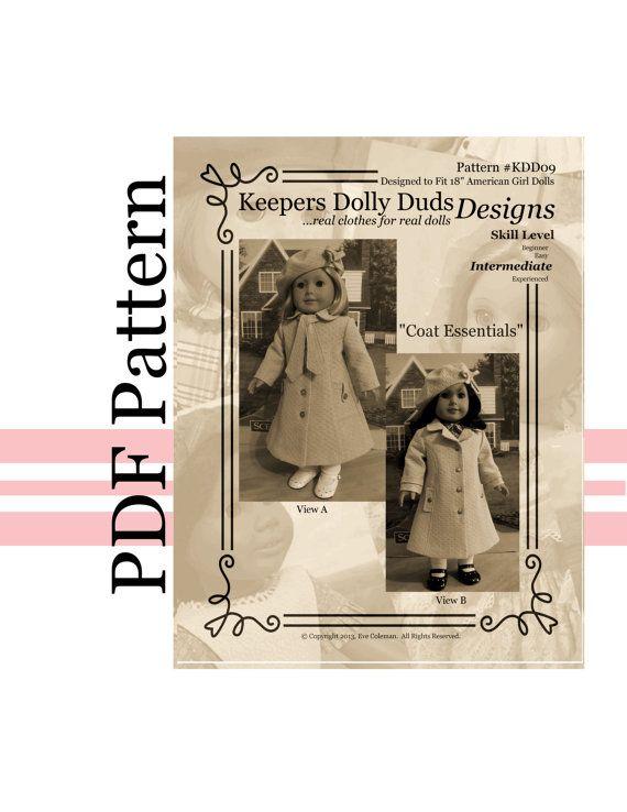 PDF PATTERN KDD09 Coat Essentials An Original by KeepersDollyDuds ...