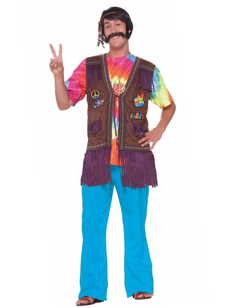 60s Costume Ideas Hippie Costume Hippie Vest Hippie Peace