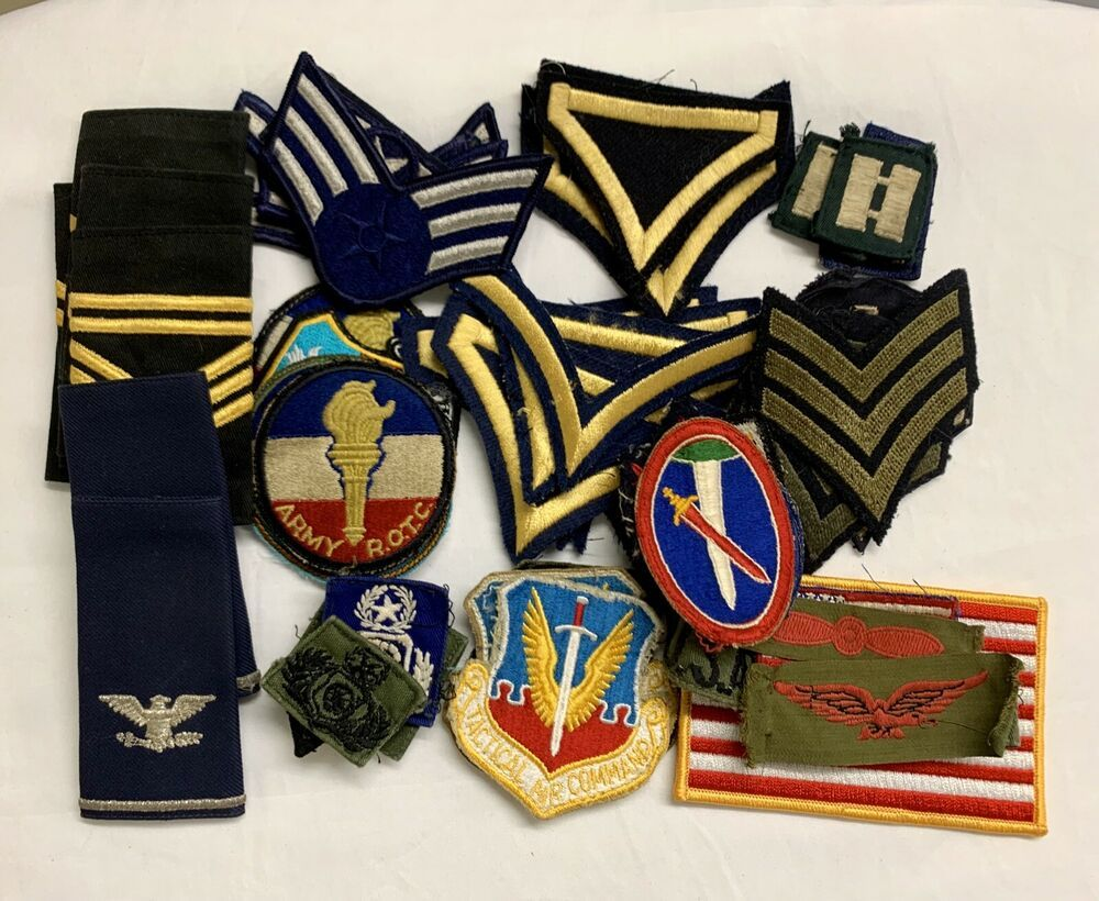 Huge 53pc Vintage Military Patches Mixed Lot Air Force