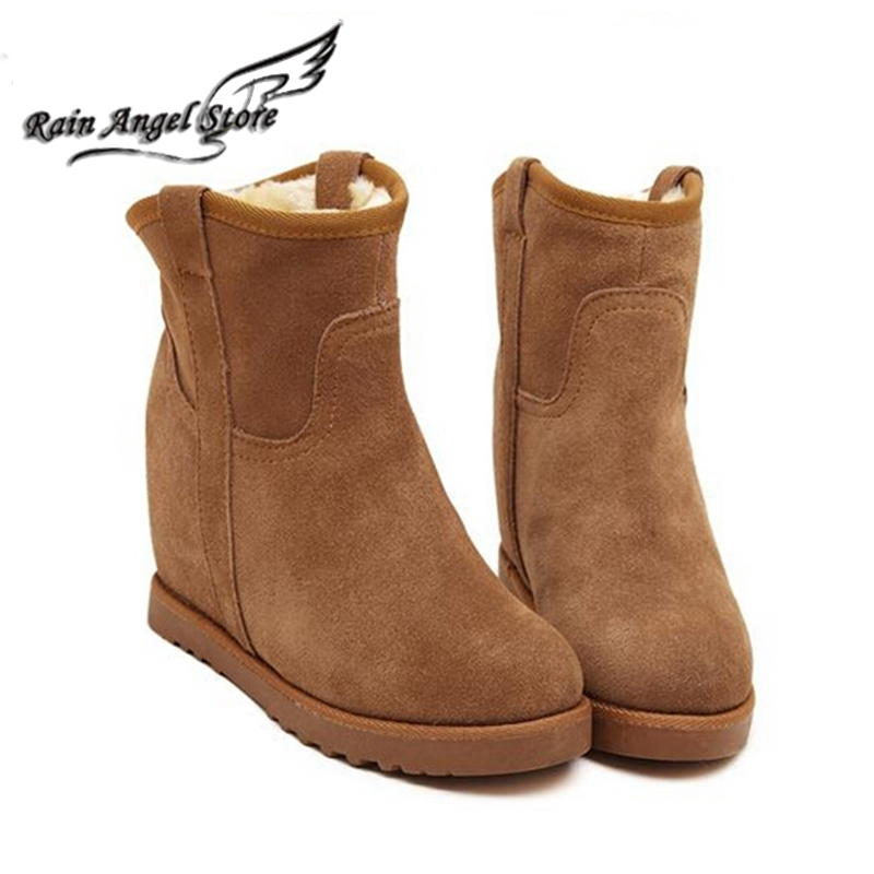 37.20$ Watch more here - Fur Leather Boots Women Winter Warm ...