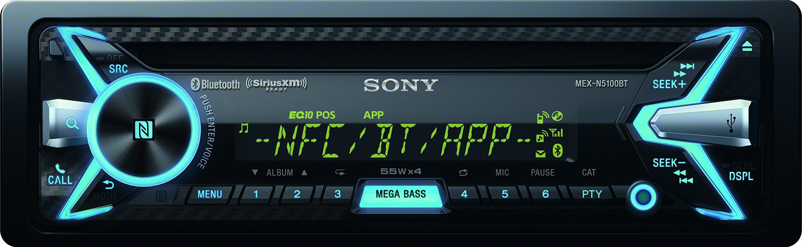 Sony Mexn5100bt Car Stereo Receiver With Bluetooth Nfc And App Power Acoustik Ptid 8920b Wiring Diagram Remote