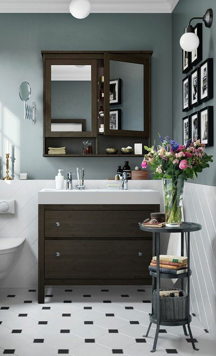 Badezimmer schrank dekorieren for Badezimmer regal dekorieren