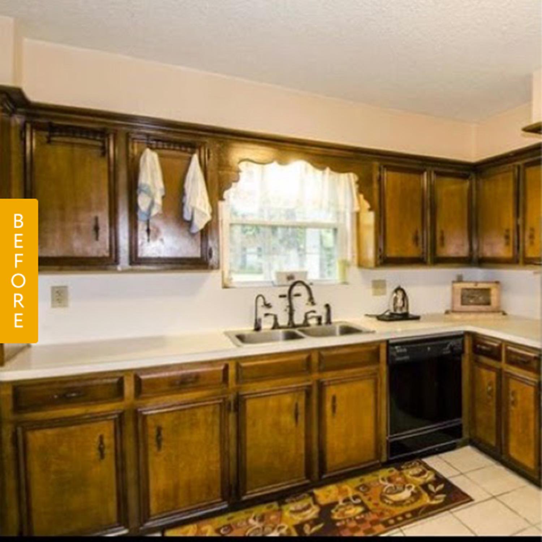 Before & After A Dark 1960S Kitchen Gets A Bright $185 Facelift Entrancing Remodeling Kitchen Design Inspiration