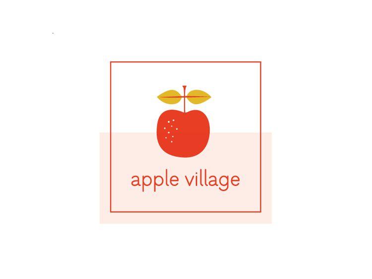 wip apple village logo package pinterest logos