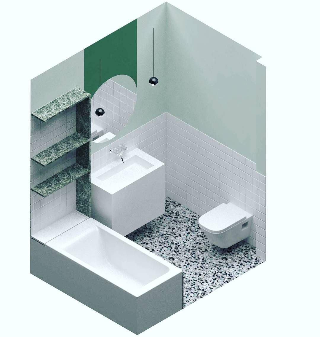 Reforma CBR. Madrid. Materiales. #baño #toilet #axo #suelo #terrazo ...