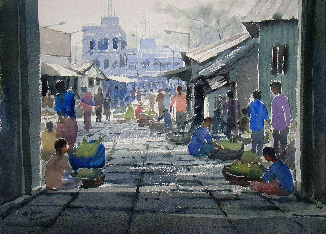 Renew watercolor artist magazine - Buy Indian Top Transparent Watercolor Art Paintings Famous Watercolor Artists Painters In India