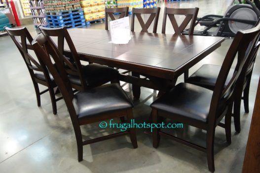 costco sale bayside furnishings 9 pc dining set 699 99 frugal hotspot