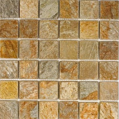 """Epoch 2"""" x 2"""" Slate Mosaic Tile in Sunny Ray"""