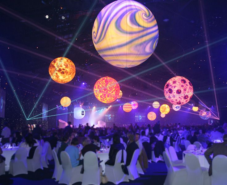 An outer space themed gathering by disney event group for Outer space stage design