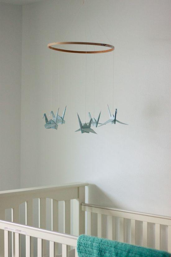 Amazon.com: Origami Crane Baby Mobile: Handmade | 825x550