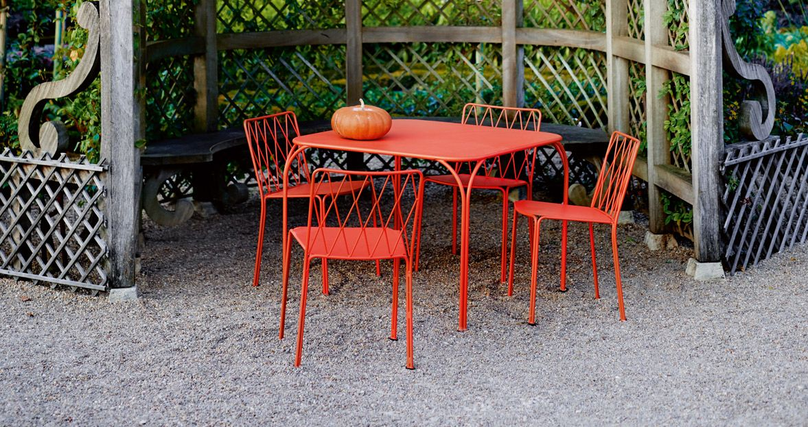 mobilier de jardin, chaise metal, table de jardin, table metal ...
