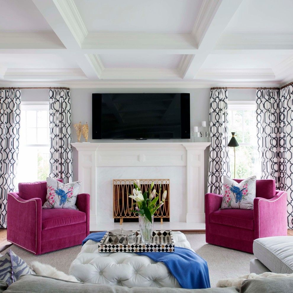 2-glam-living-room-grey-walls-tufted-ottoman-mirrored-buffet-table ...