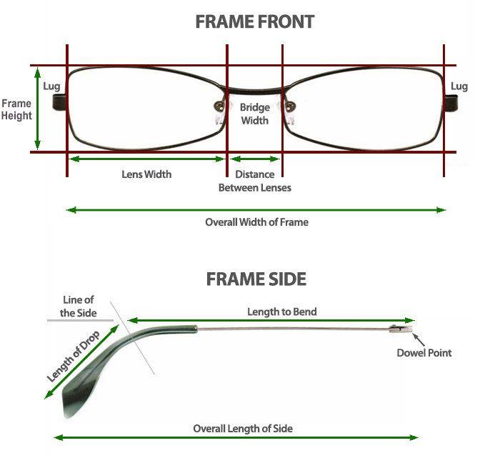Sites That Help In Determining How To Measure Glasses Glasses Frames Eyeglasses Glasses