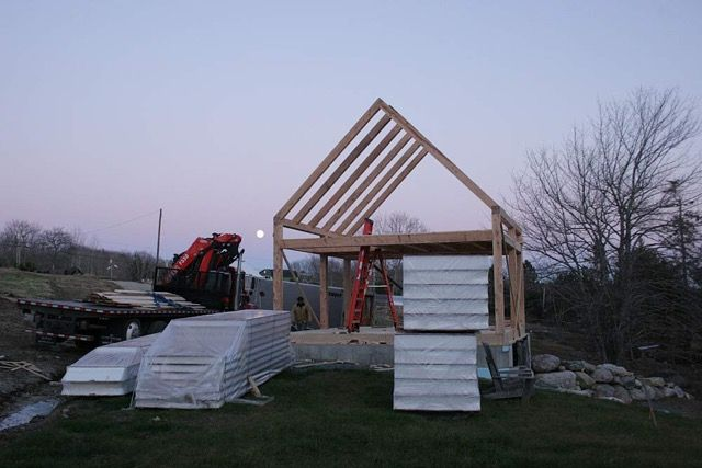 Elegant 20x20 Timber Frame Guest House (under Construction). The Home Will Be  Enclosed With SIP Panels.