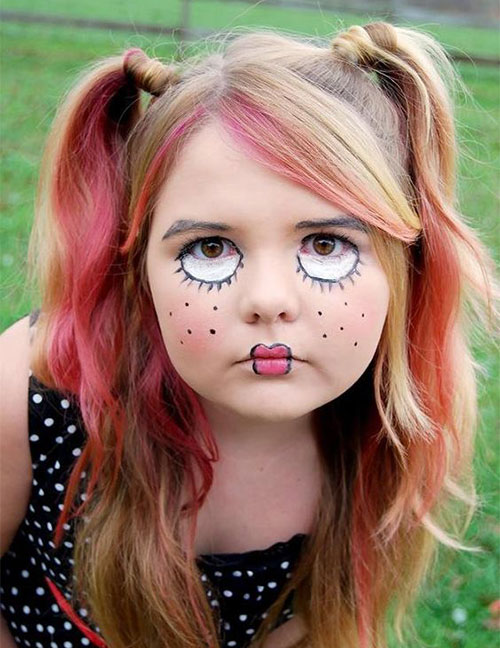 15 Easy Halloween Makeup Ideas For Kids 2019 (con imágenes