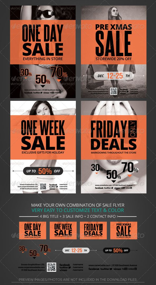 Holiday Store Sale Flyer Template – For Sale Ad Template