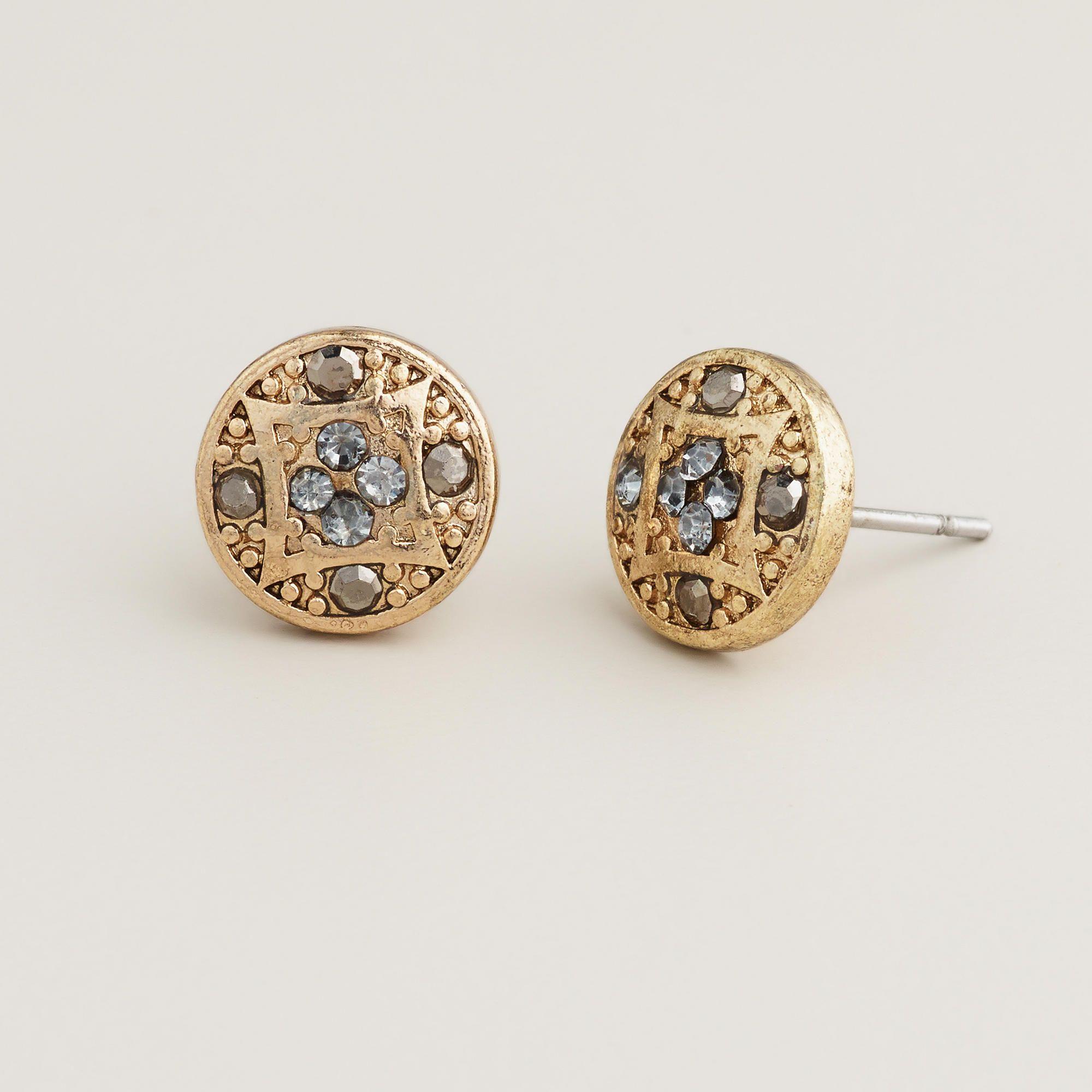 Art Deco Stud Earrings | World Market