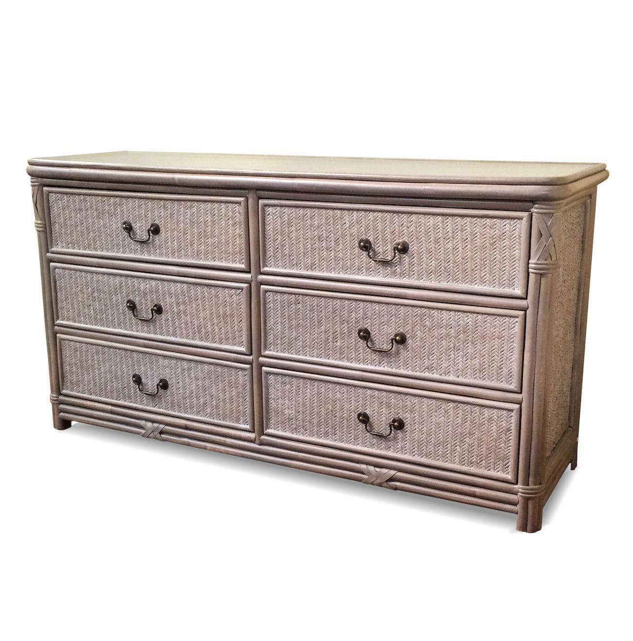Undefined 6 Drawer Dresser Wicker Bedroom Furniture Nyc Furniture [ 1316 x 1300 Pixel ]