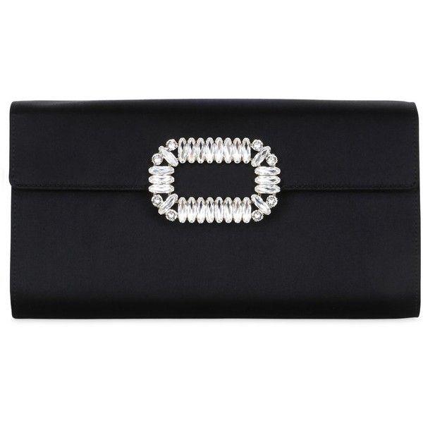 Roger Vivier Women Silk Satin Swarovski Envelope Clutch ( 1 229f0cf1612ef
