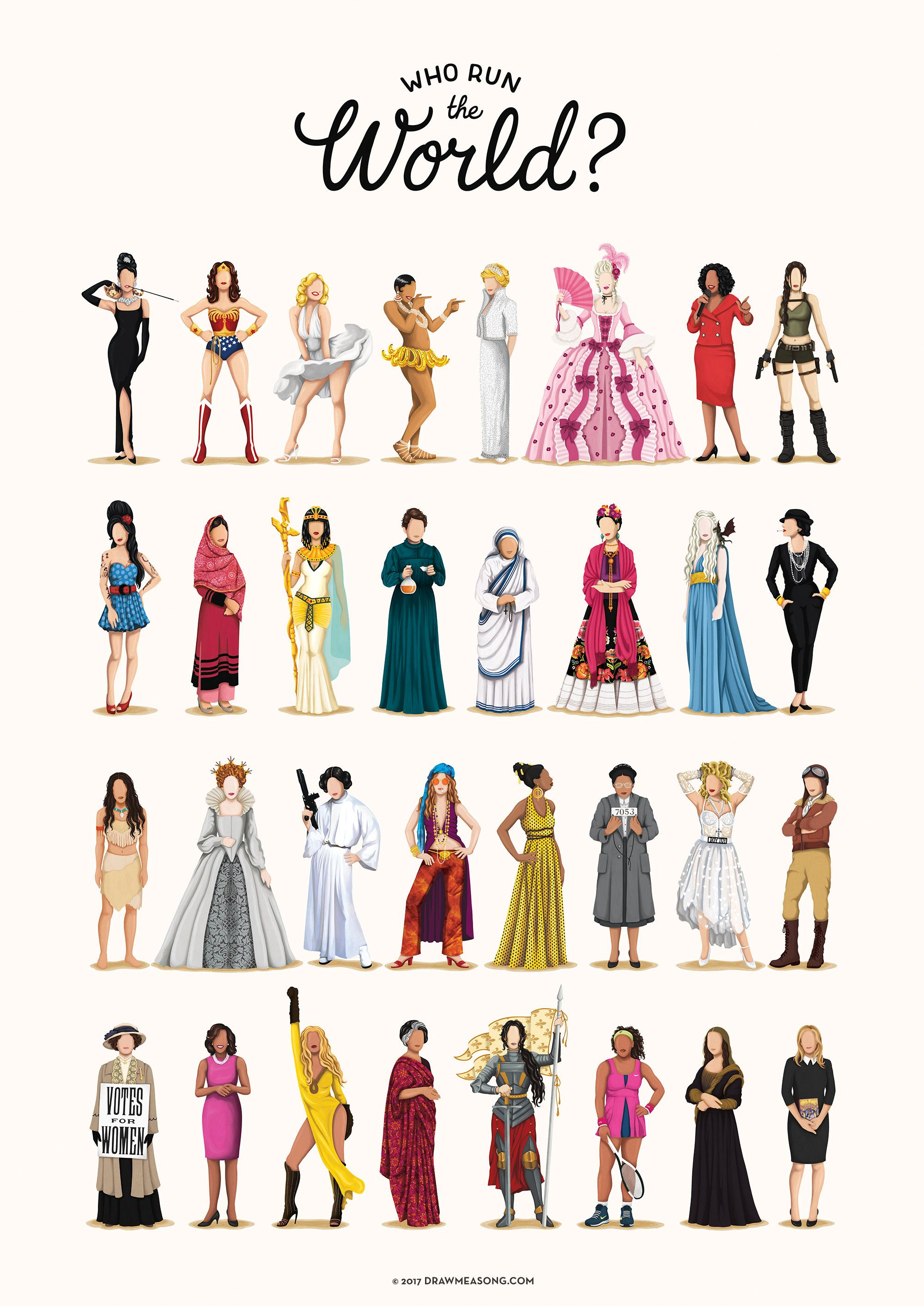 Who Run the World Music Poster, The Future is Female Print ...