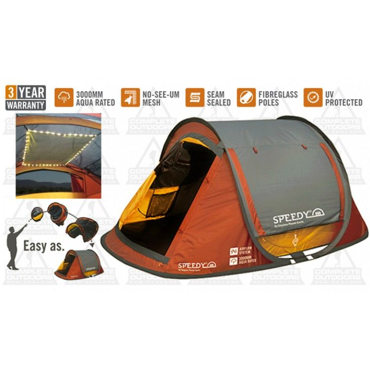 Kiwi Camping Epe Speedy 2 Person Pop Up Tent With Leds Tent Pop Up Tent Outdoor Gear