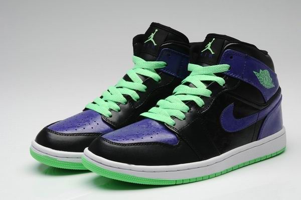 Nike Air Jordan 1 Retro Joker Mens Shoes Black  Purple  Green All kinds  of Cheap Nike Shoes are provided in Nike store with superior quality and  super