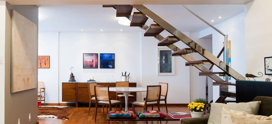 6 tipos de escaleras ideales para casas peque as for Escaleras metalicas pequenas