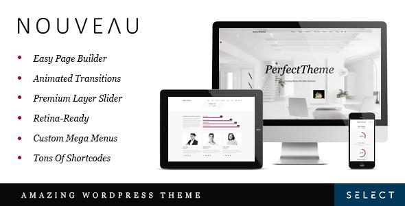 Nouveau - Multi-Purpose Retina WordPress Theme | Free Template Files