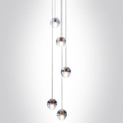 Cascade glass ball pendant light 5 light pendant lighting and lights cascade glass ball pendant light 5 light aloadofball Choice Image