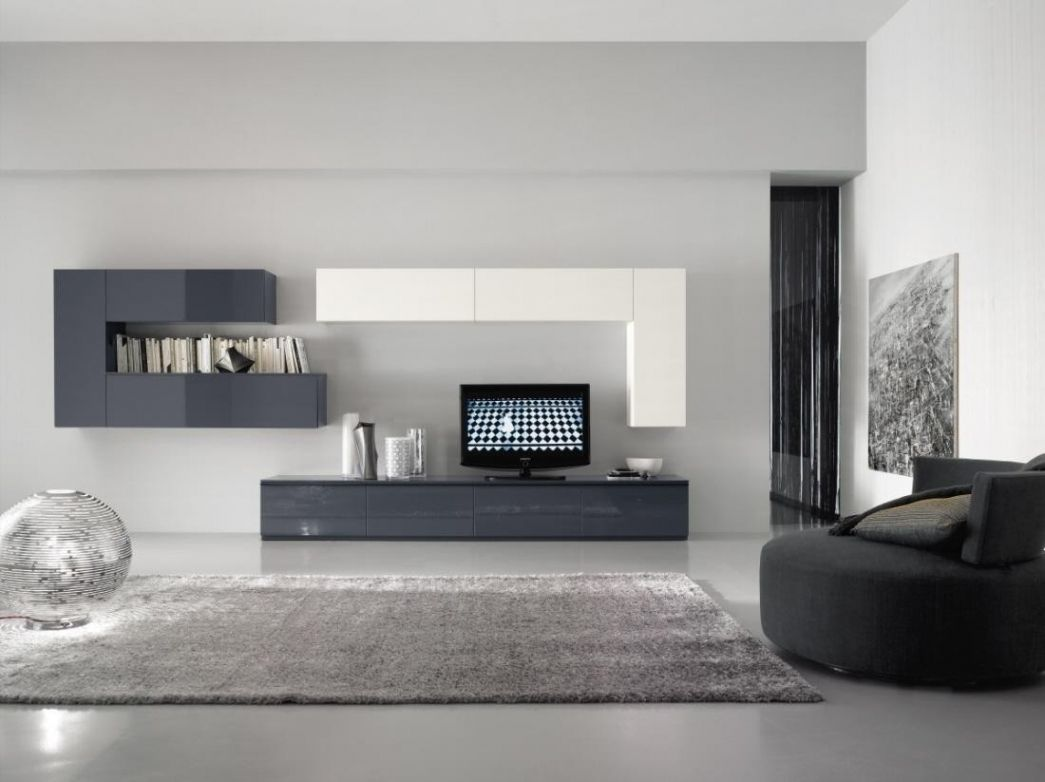 Uberlegen Stilvoll Wohnzimmer Weiß Grau