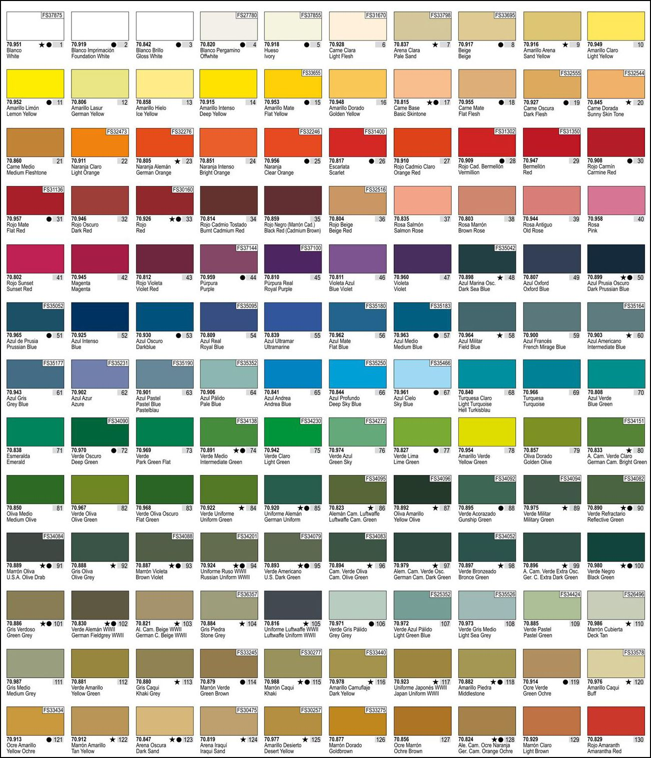 Vallejo Model Color Chart Edenaoforum