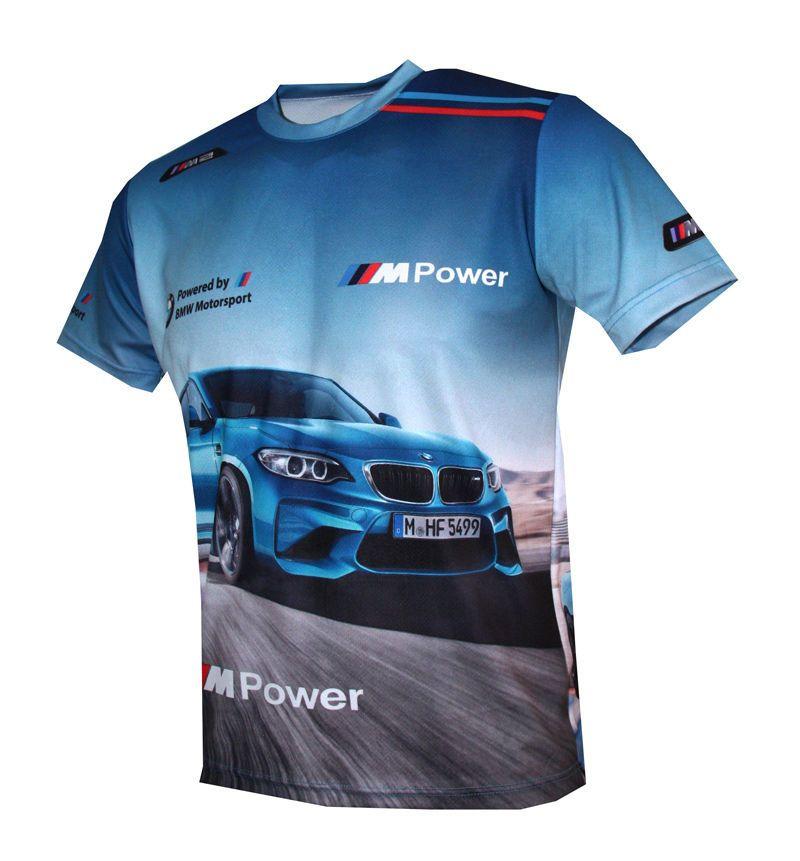 f4a857e06bd BMW M2 Motorsport M Power Logo quality graphics design men's t-shirt  #Handmade #sublimatedprint