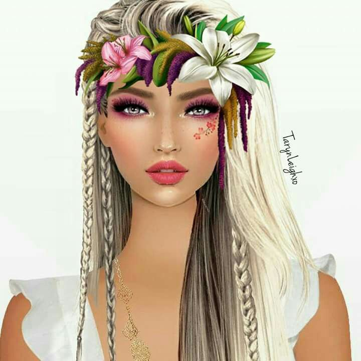 Hawaiian Beauty Divine Styles And Color In Hair And Makeup Pinterest Hawaiian People Art