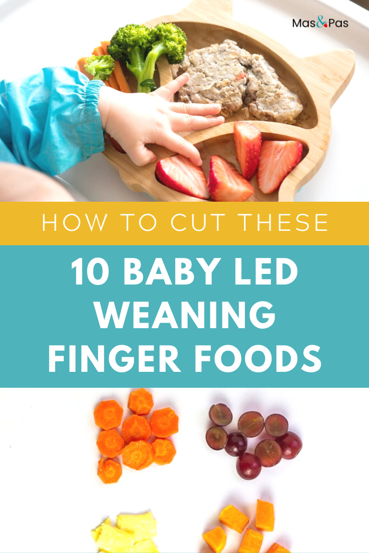 A list of the 10 best food ideas for starting baby led weaning with finger foods. This guide shares how to introduce your baby to new foods at every stage of their first year! #babyfood #babyfoods #babyledweaning #babyweaning #babyfingerfood