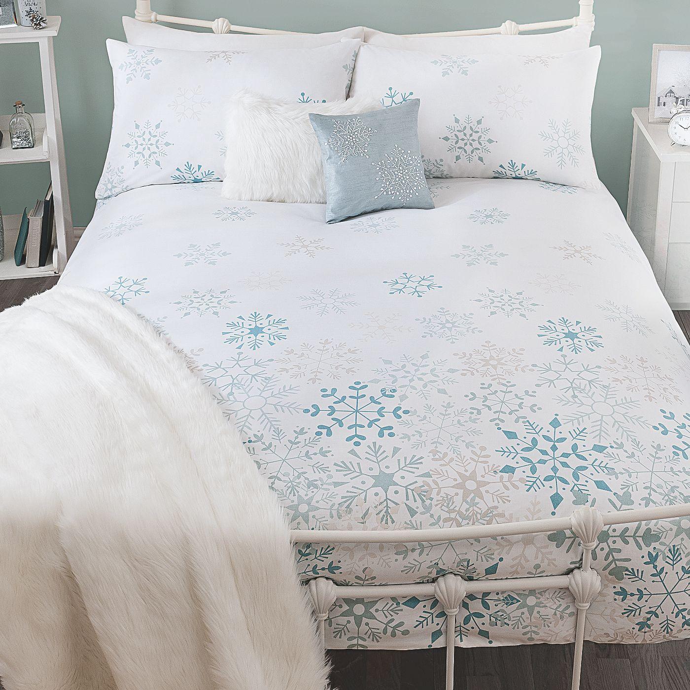 George Home Snowflake Duvet Range Bedding Asda Direct