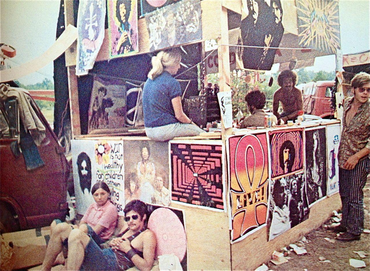 A poster vendor at Woodstock, 1969