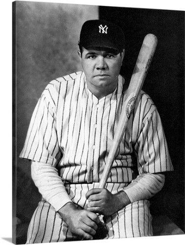 Premium Thick-Wrap Canvas Wall Art Print entitled George H. Ruth (1895-1948), baseball player, None