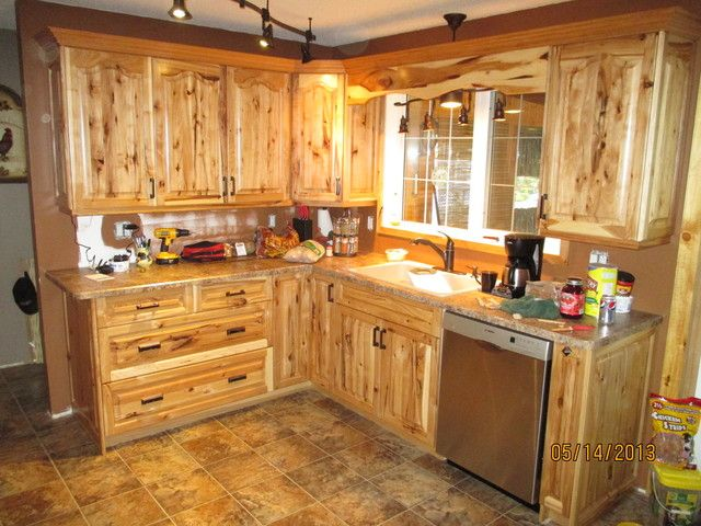 Image Result For Knotty Hickory Cabinets