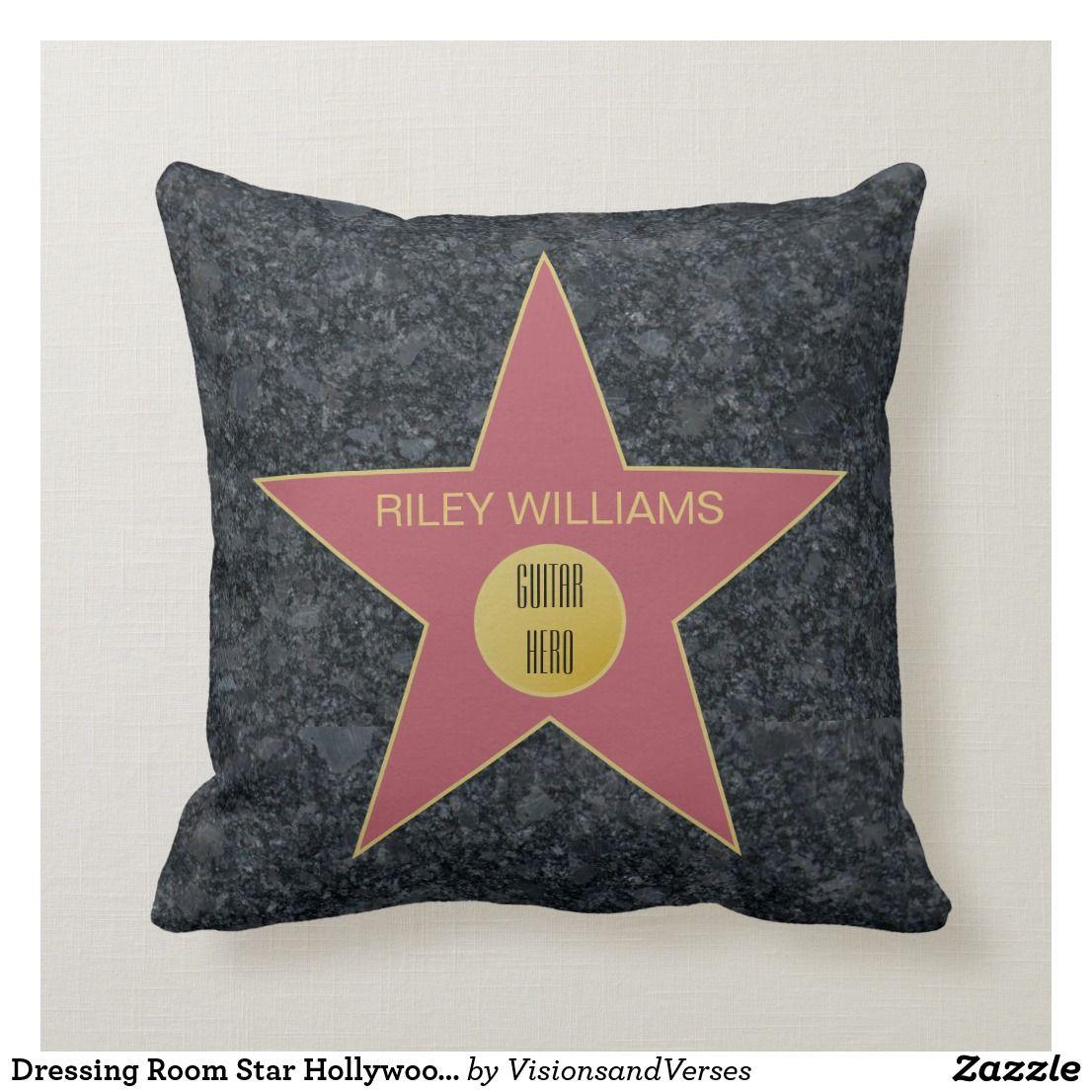Cozy Hometheater: Dressing Room Star Hollywood Superlatives Throw Pillow