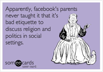 Apparently facebooks parents never taught it that its bad – Old Fart Birthday Cards