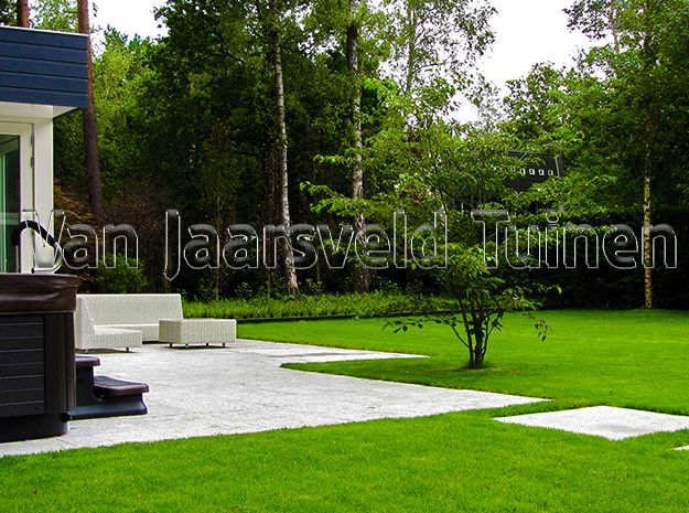 Minimalistisch tuin in bilthoven noord tuinontwerp tuinaanleg