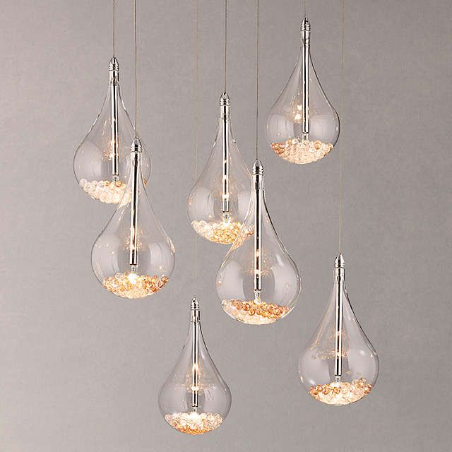 Buyjohn lewis sebastian 7 light led ceiling light chrome online at johnlewis com pendant stairwell pinterest led ceiling lights light led and